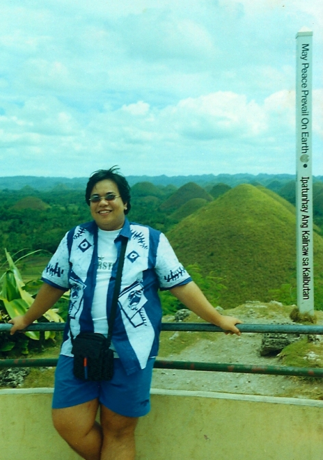 viewing the famous Chocolate Hills, c2003