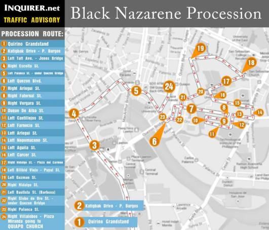 black nazarene procession route