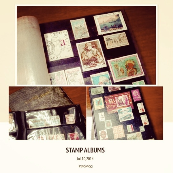 my old stamp albums